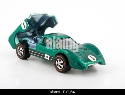 Green Ford J-Car  Hot Wheels die-cast toy cars by Mattel 1968 with Spectraflame paintwork - Stock Photo