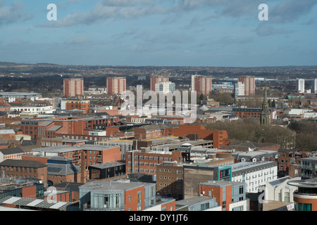 Birmingham business district showing city centre housing England - Stock Photo