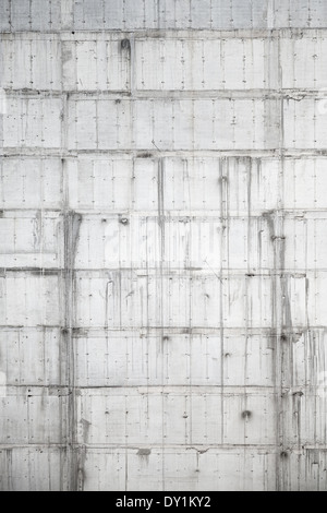 Vertical background texture of new gray concrete wall under construction - Stock Photo