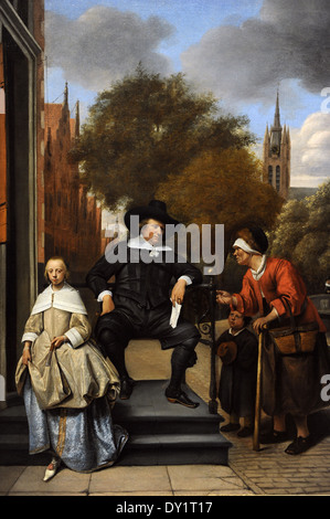 Jan Havicksz Steen (c.1625-1679). Adolf and Catharina Croeser, Known as The Burgomaster of Delft and his Daughter, - Stock Photo