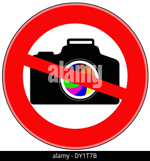 Photo and video shooting is prohibited - Stock Photo