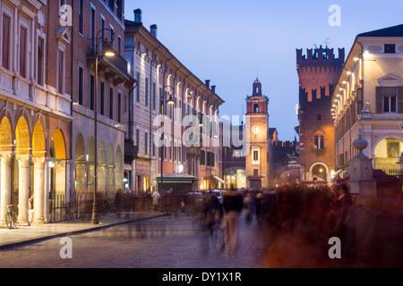 Corso Martiri della Libertà, Ferrara, Emilia Romagna, Italy - Stock Photo