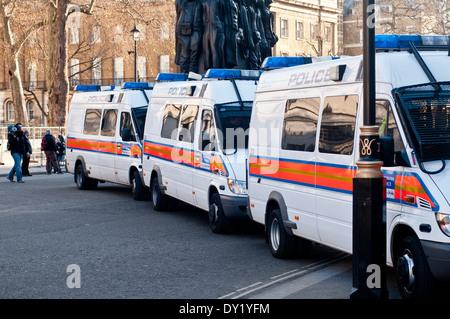 British Police Vans - Stock Photo