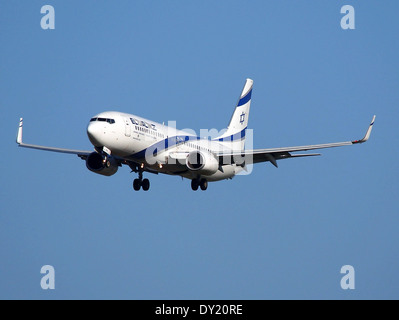 4X-EKH El Al Israel Airlines Boeing 737-85P(WL) - cn 35485,, AMS Amsterdam (Schiphol), pic1 - Stock Photo