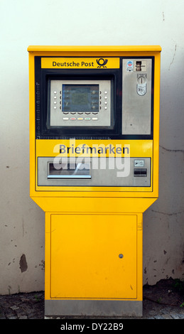 German postage stamp dispensing machine - Stock Photo