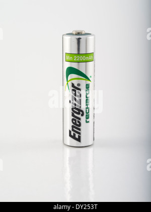 Energizer Recharge Rechargeable Battery NiMH nickel metal hydride - Stock Photo