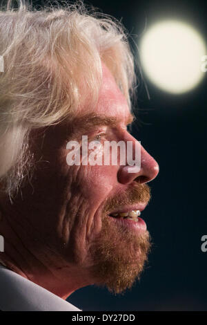 Washington DC, USA . 03rd Apr, 2014. Sir Richard Branson, Founder, Virgin Group, speaks at the U.S. Chamber Of Commerce - Stock Photo