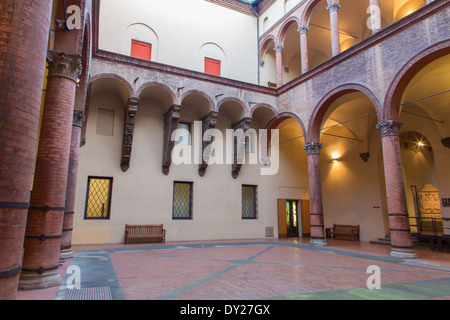 Bologna - Atrium of Museo civico medievale - Medieval museum - Stock Photo