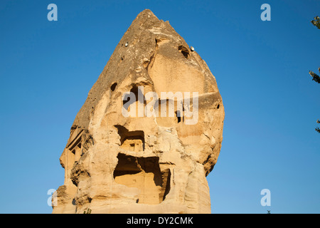 rock houses, goreme, cappadocia, anatolia, turkey, asia - Stock Photo