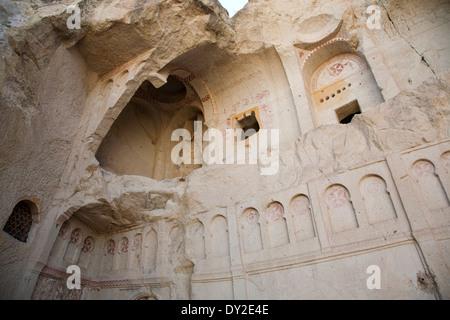 the dark church, open-air museum of goreme, cappadocia, anatolia, turkey, asia - Stock Photo