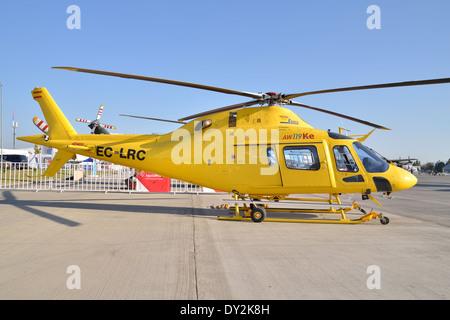 The Agusta Westland AW119Ke Koala of FAASA Aviación, during Fidae 2014 - Stock Photo
