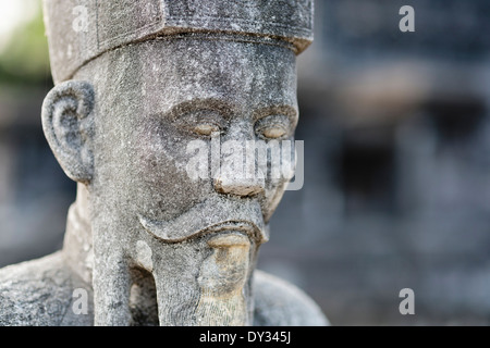 Hue, Vietnam, Southeast Asia. Honour Courtyard, Tomb of Khai Dinh, guardian mandarin statue - Stock Photo