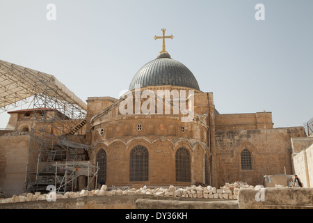 Church of the Holy Sepulchre, Jerusalem, Israel. - Stock Photo