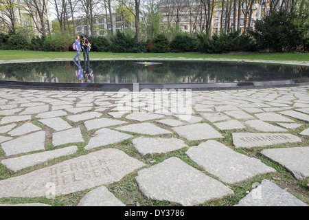 Memorial to the Sinti and Roma of Europe Murdered under the National Socialist Regime, Berlin, Germany - Stock Photo