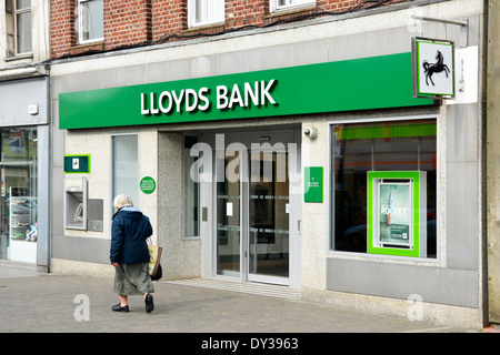New Lloyds bank shopfront styling after split up of Lloyds and TSB High Street Brentwood Essex England UK - Stock Photo
