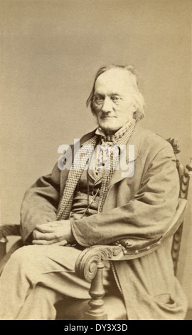Sir Richard Owen – English biologist, comparative anatomist, paleontologist, and opponent of Darwin's theory of - Stock Photo