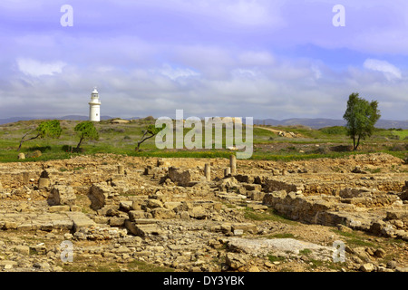 The Archaeological Helenistic and Roman site at Kato Paphos in Cyprus. - Stock Photo