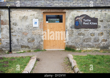 RSPB Tollie Red Kite Visitor Centre near Dingwall, Ross-shire, Scotland. - Stock Photo