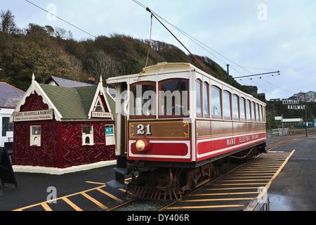 The Manx Electric Railway, Douglas, Isle of Man - Stock Photo