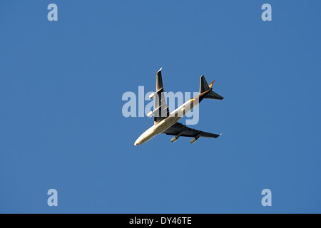Boeing 747 cargo jumbo jet operated by UPS - Stock Photo