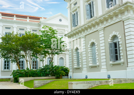 Near the National Museum of Singapore - Stock Photo
