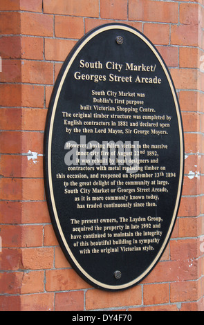 South City Market and Georges Street Arcade Sign - Stock Photo