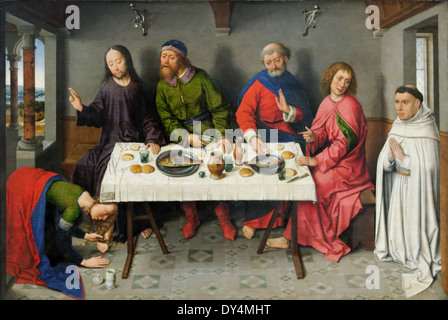 Dieric Bouts- The Christ in the house of Simon the Pharisee - 1460 - XV th Century - German School - Gemäldegalerie - Stock Photo