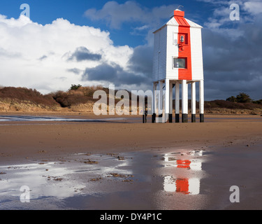The Low 1832 Wooden Lighthouse at Burnham on Sea, Somerset England UK Europe - Stock Photo