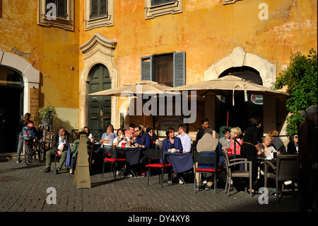 italy, rome, piazza di pietra, cafe - Stock Photo