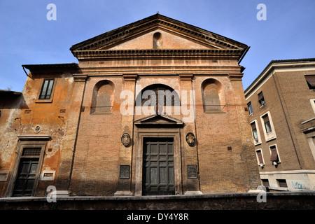 Italy, Rome, via di San Giovanni Decollato, church of San Giovanni Decollato - Stock Photo
