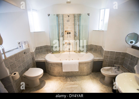 Portmeirion hotel bathroom spa. Portmeirion, North Wales, United Kingdom - Stock Photo