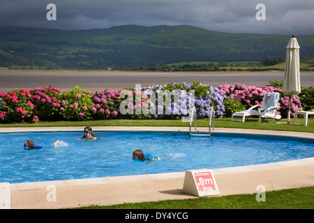 Mediterranean sea with gardens and swimming pool of papillon zeugma 5 stock photo royalty free for North wales hotels with swimming pools