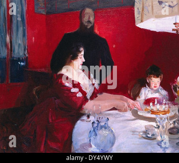 John Singer Sargent The Birthday Party - Stock Photo