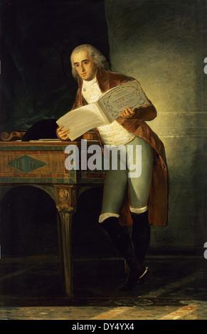Jose Maria Alvarez de Toledo, Marques of Villafranca de Bierzo, Grandee of Spain (1756-1796). Portrait by Goya (1746 - Stock Photo