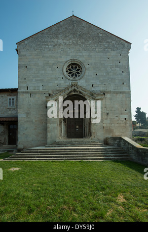 the church of St. Francis of Assisi in Pula - Stock Photo