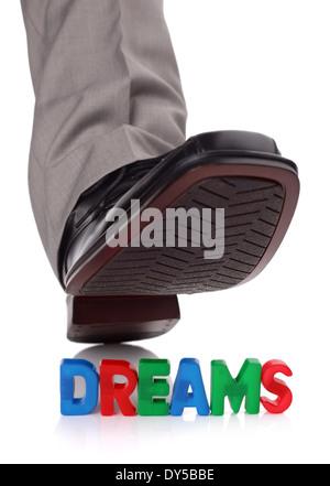 Treading on someones dreams - Stock Photo