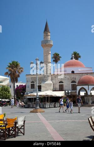 Defterdar mosque, Eleftherias square, Kos , Greece - Stock Photo