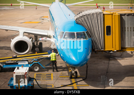 Ministro Pistarini International Airport, also known as Ezeiza, the international airport in Buenos Aires, Argentina. - Stock Photo
