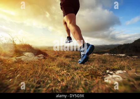 Healthy trail run - Stock Photo