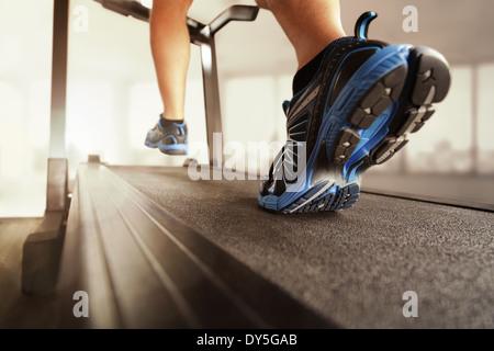 Running on a treadmill - Stock Photo