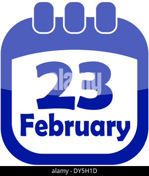 Icon February 23 calendar - Stock Photo