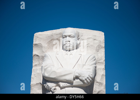 WASHINGTON DC, USA - The main statue at the heart of the Martin Luther King Jr Memorial (or MLK Memorial) stands - Stock Photo