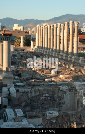Excavation of the agora of the ancient city of Smyma in modern Izmir, Turkey. Digital photograph - Stock Photo