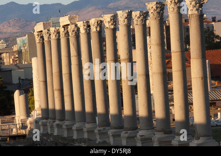 Ruins of the agora of the ancient city of Smyma in modern Izmir, Turkey. Digital photograph - Stock Photo