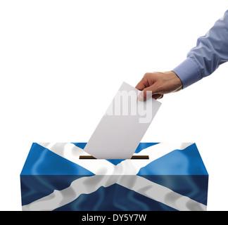 Scottish independence referendum - Stock Photo