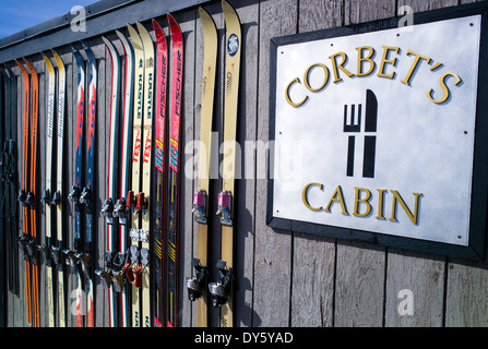 Corbet's Cabin, at the top of Jackson Hole Mountain Resort, Jackson, Wyoming, USA - Stock Photo