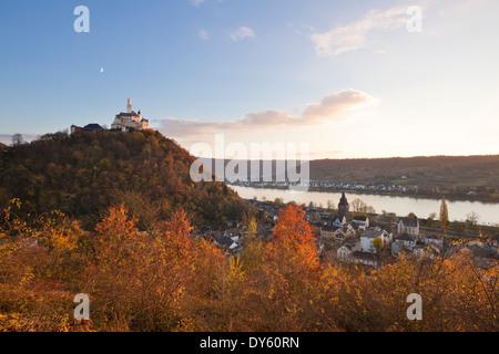 Marksburg castle, near Braubach, Rhine river, Rhineland-Palatinate, Germany - Stock Photo