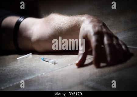 Drugs abuse - Stock Photo