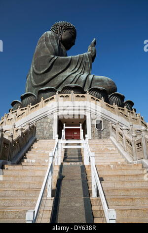 Big Buddha, Po Lin Monastery, Ngong Ping, Lantau Island, Hong Kong, China, Asia - Stock Photo