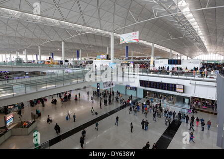 Hong Kong International Airport, Chek Lap Kok Island, Hong Kong, China, Asia - Stock Photo
